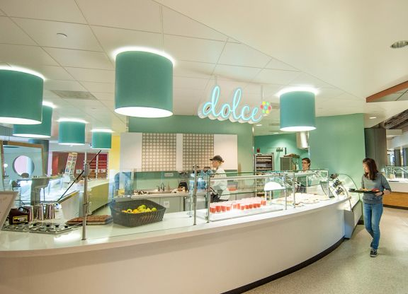 picture of a cafeteria shop named dolce