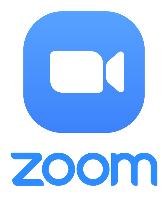 Zoom Logo (official branding, camera icon and company name)