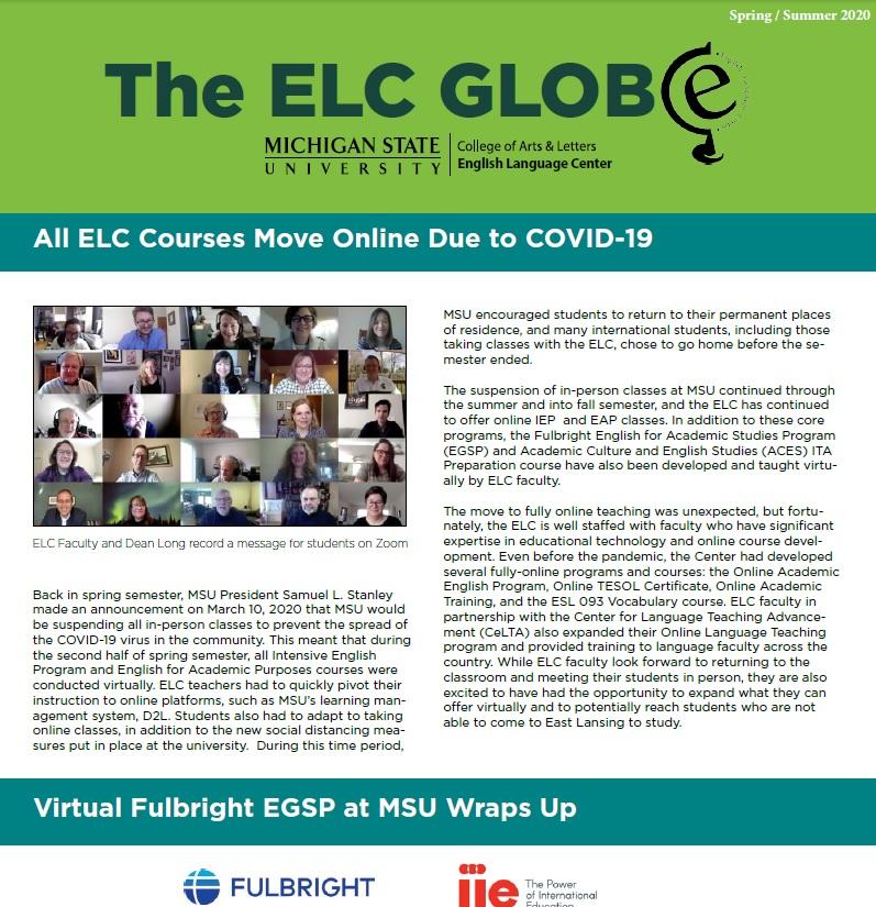 ELC Globe from Spring/Summer 2020