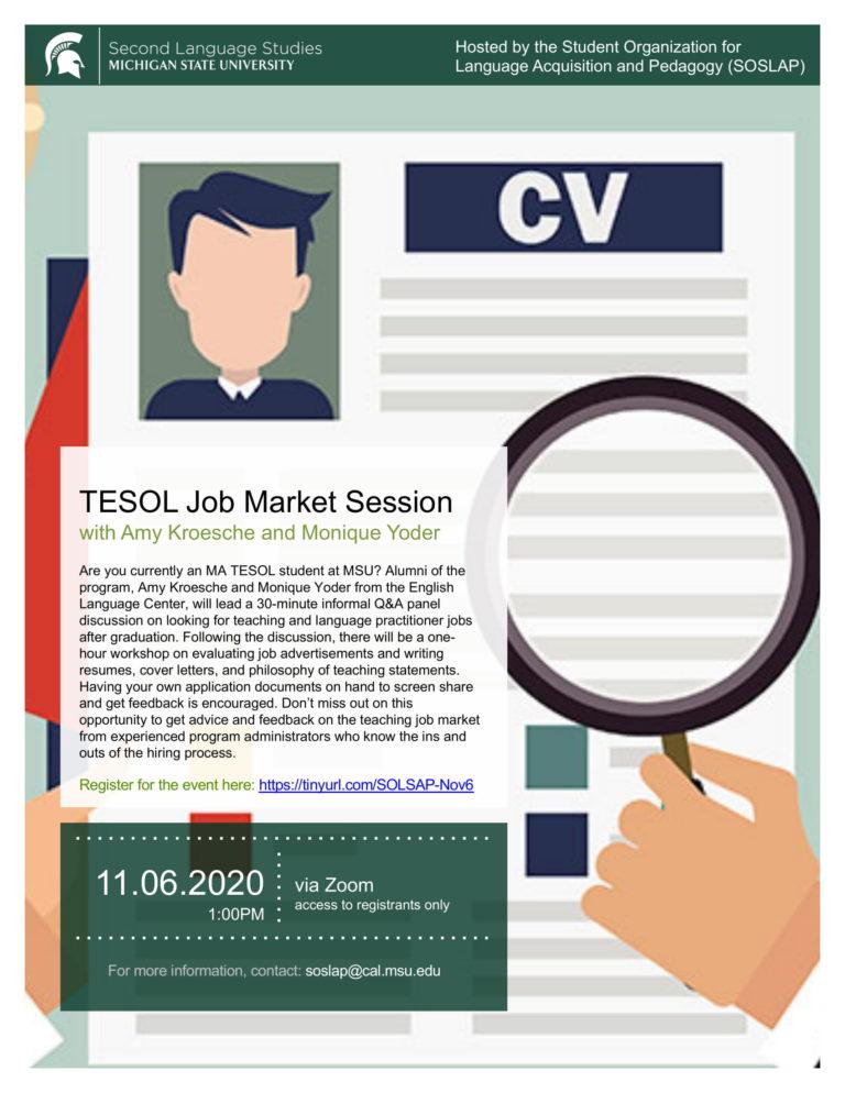 TESOL Job Market Session